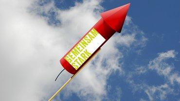 Rakete Gemeinsam stark Feuerwerk Freude Jubel Erfolg
